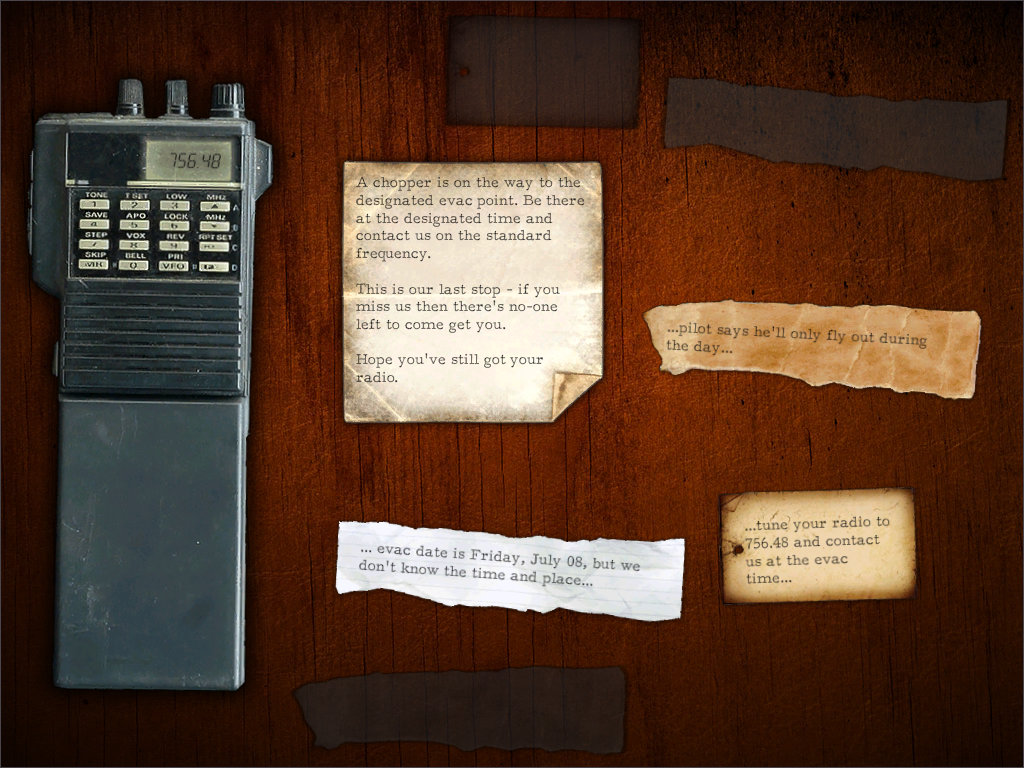 Clues about the rescue operation can be seen on the rescue item screen