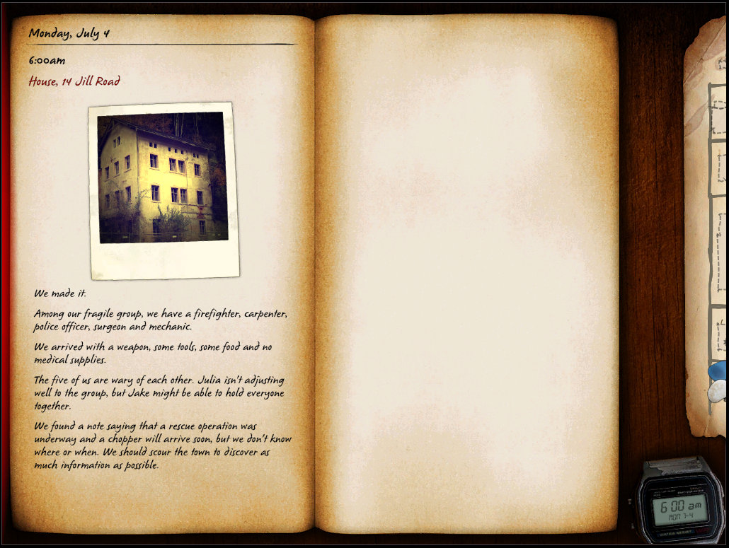 Diary view